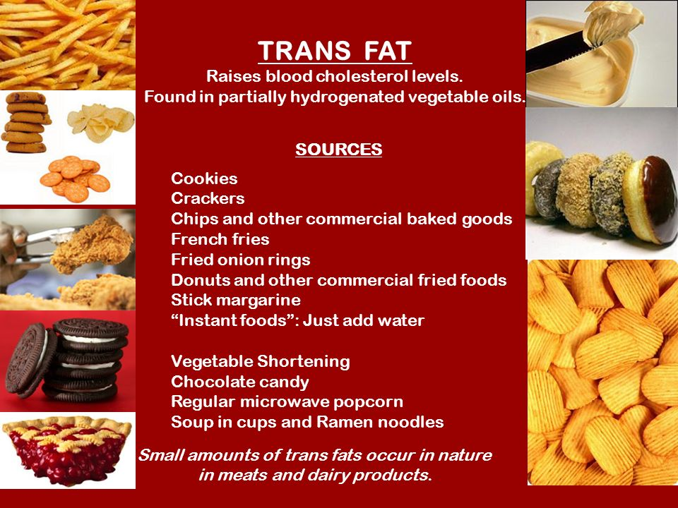 Trans Fat In Fast Food French Fries