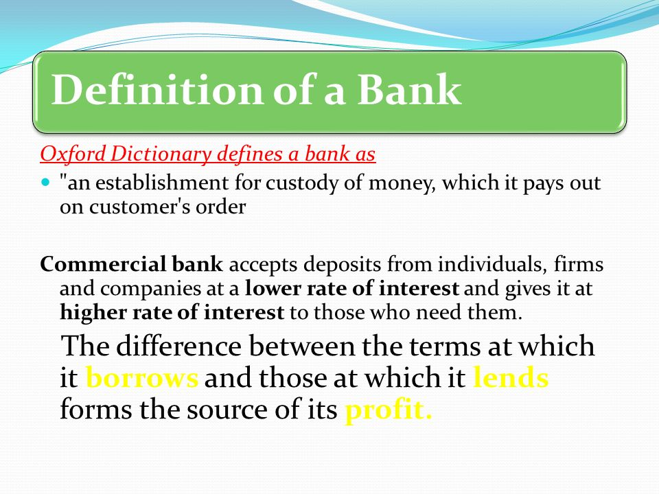 Chapter no 3 commercial bank chapter no 3 commercial bank for Terest definition