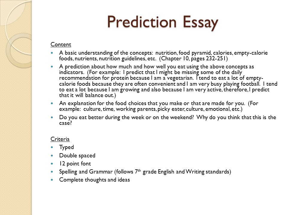personal nutrition unit ppt prediction essay content
