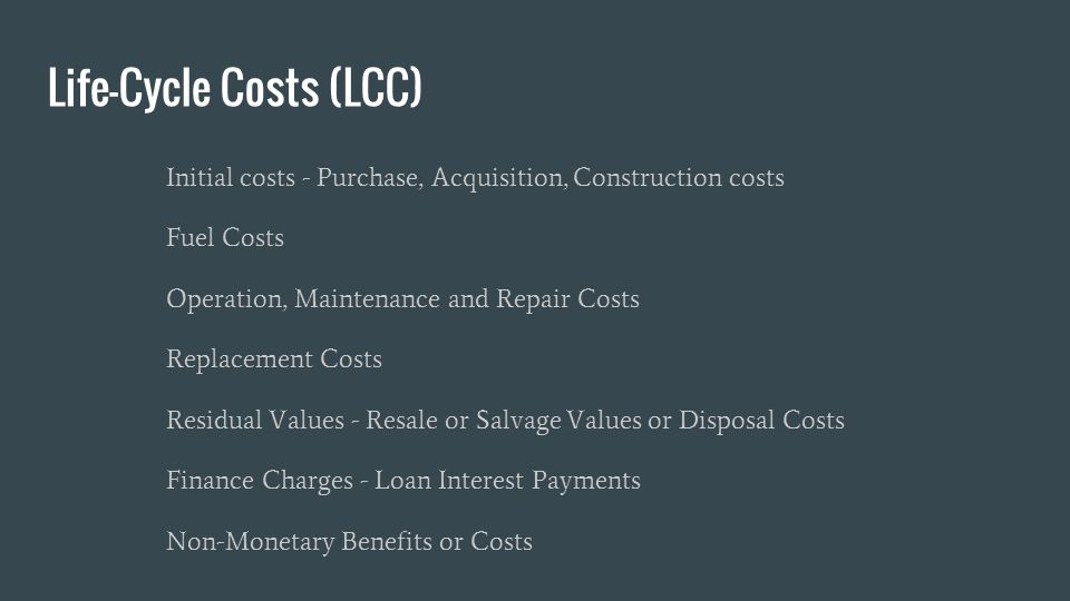 Life Cycle Cost Analysis Lcca Of Buildings Ppt Video
