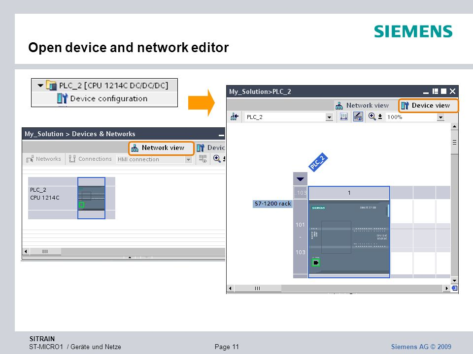 Open device and network editor