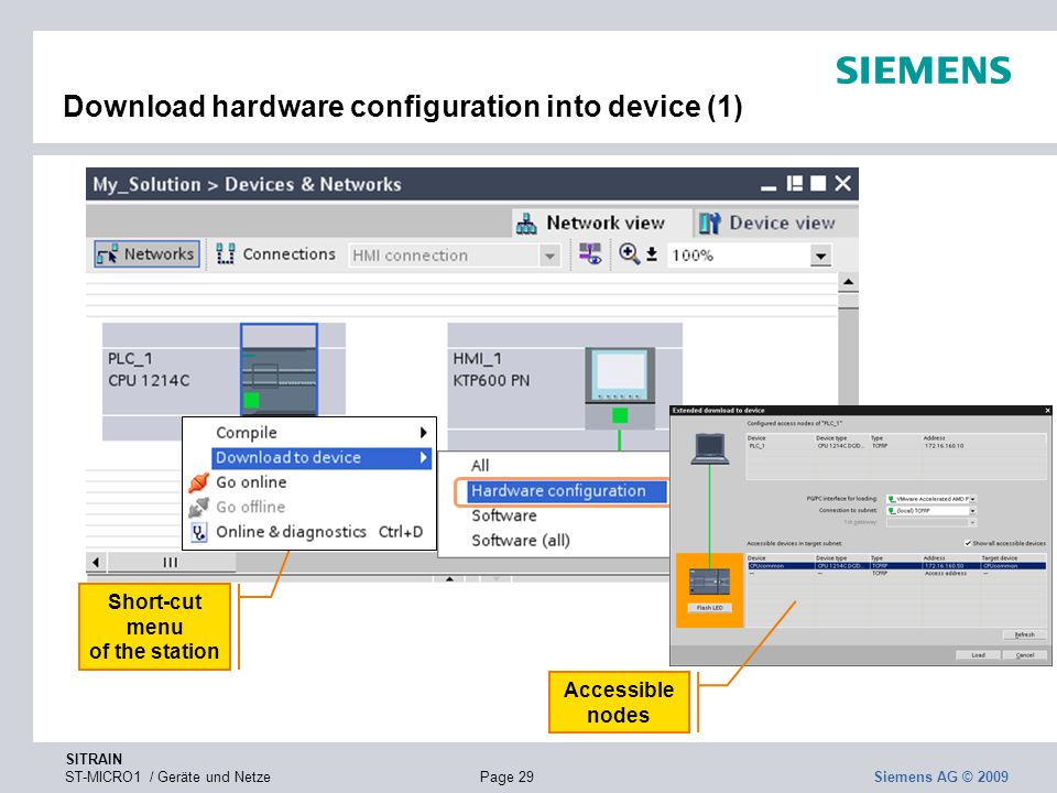 Download hardware configuration into device (1)