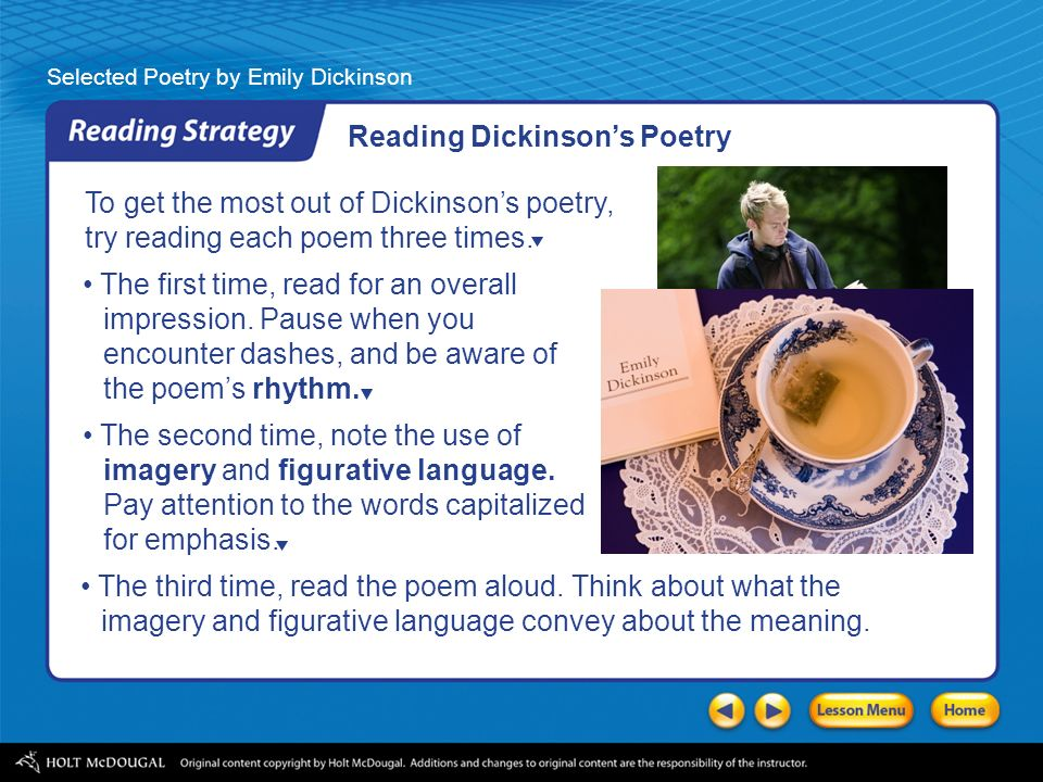 the themes of emily dickinsons poetry Funeral and death being the central themes, it is considered as one of the darkest poems of emily dickinson types of poetry:.