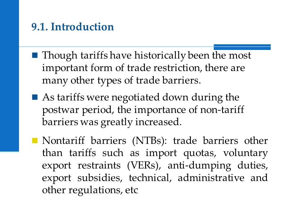 Types of trade barriers