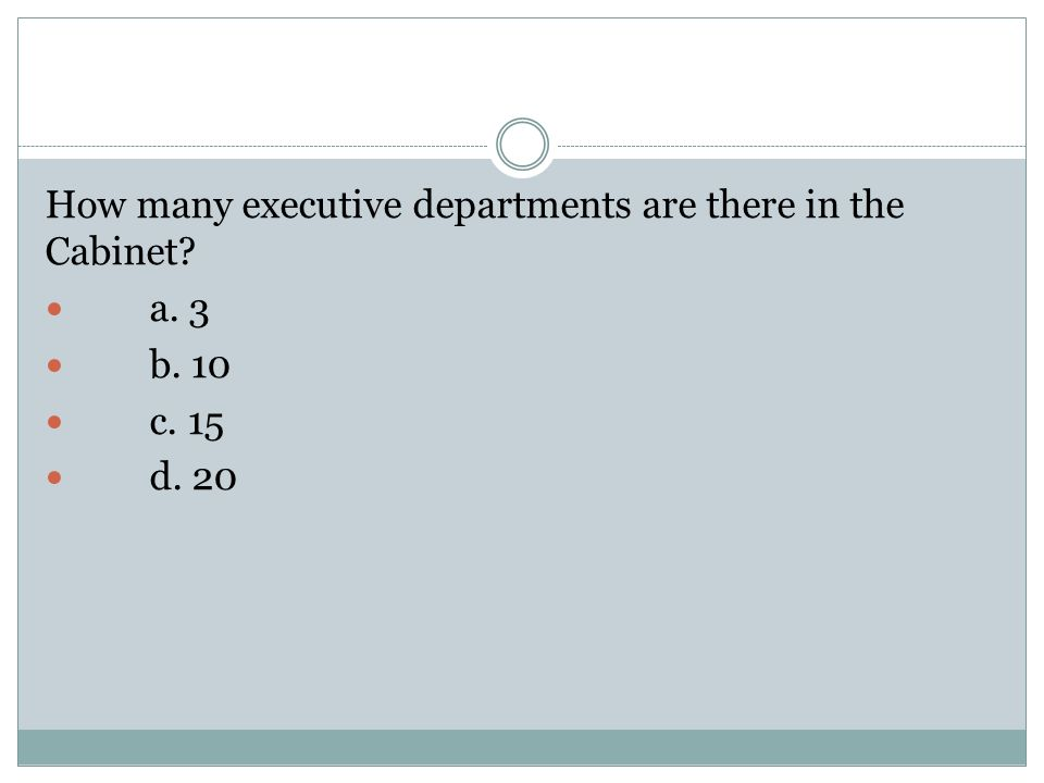 Attractive 8 How Many Executive Departments ...