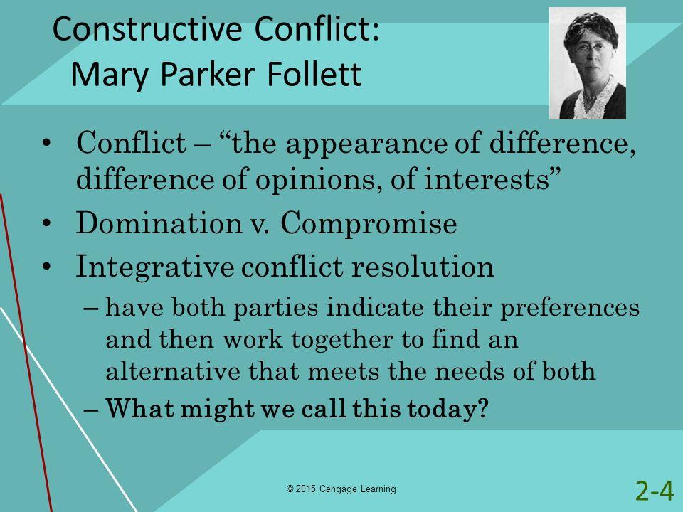 Constructive Conflict: Mary Parker Follett