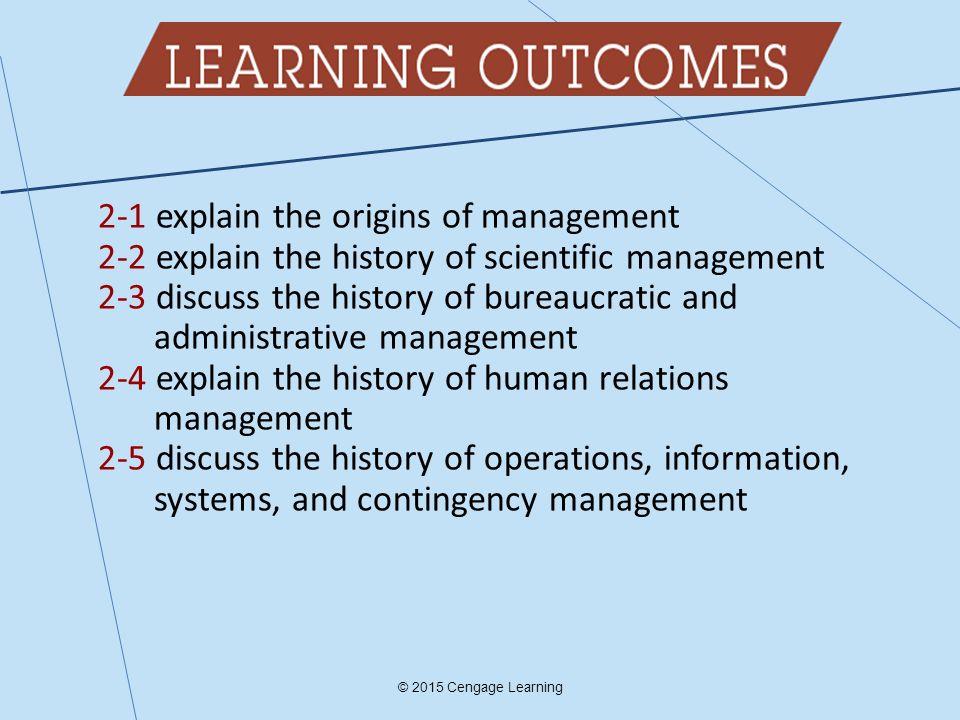 2-1 explain the origins of management