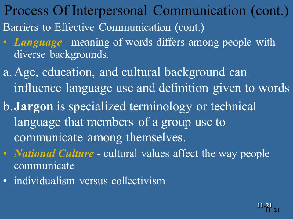 definition and explanation of interpersonal communication We communicate a lot so, it's important to understand some of the characteristics and types of our styles of communication explore interpersonal.