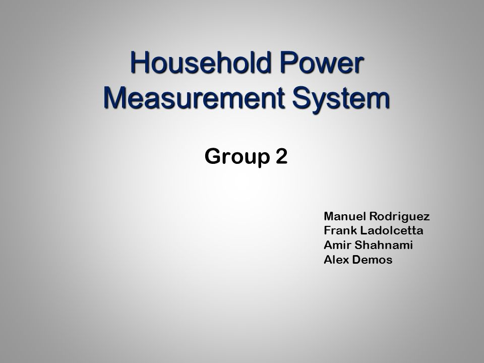 Household Power Measurement System - ppt video online download