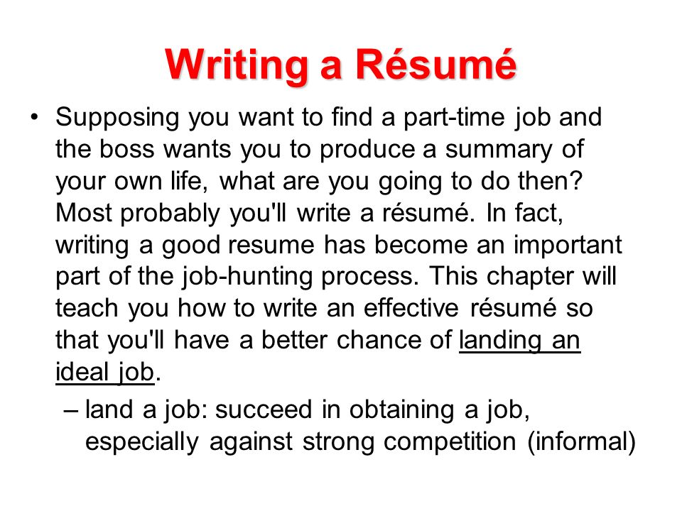 how to write a resume for your own business