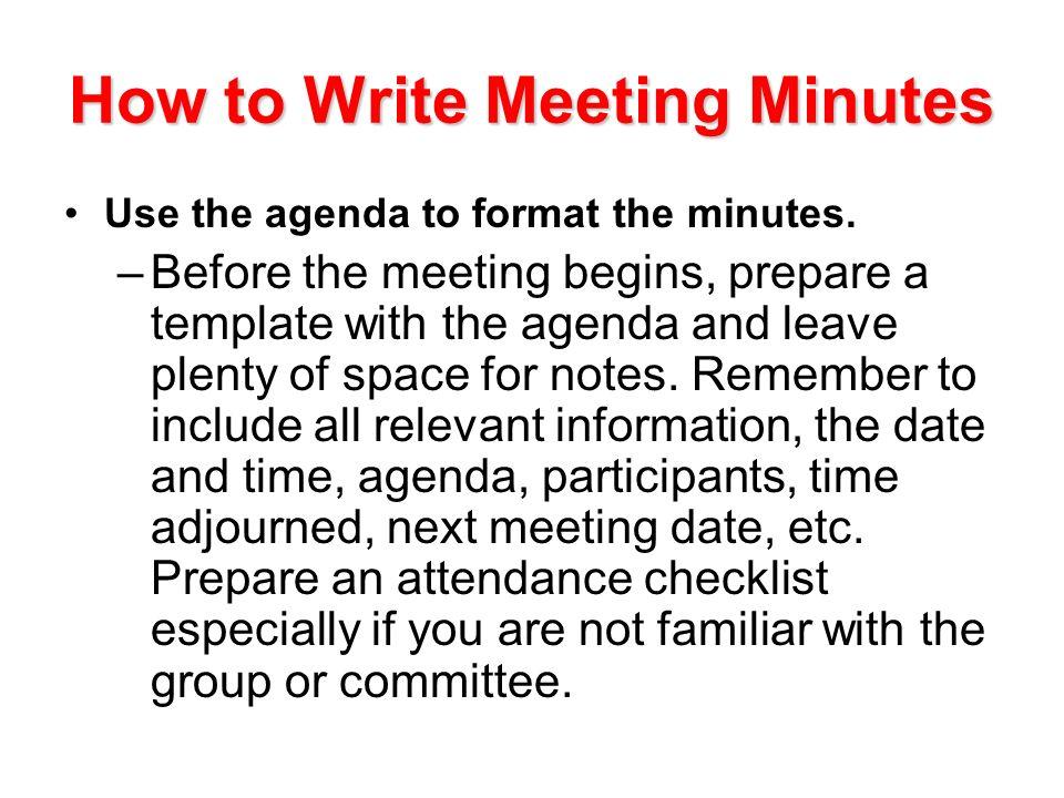 how to prepare a meeting agenda
