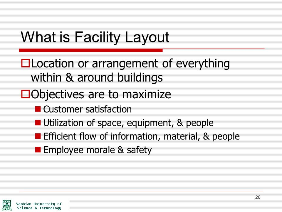 classification of facility layout problems A hybrid cad-based construction site layout planning system  classification of some recent studies in  scale used in industrial facility layout planning is.