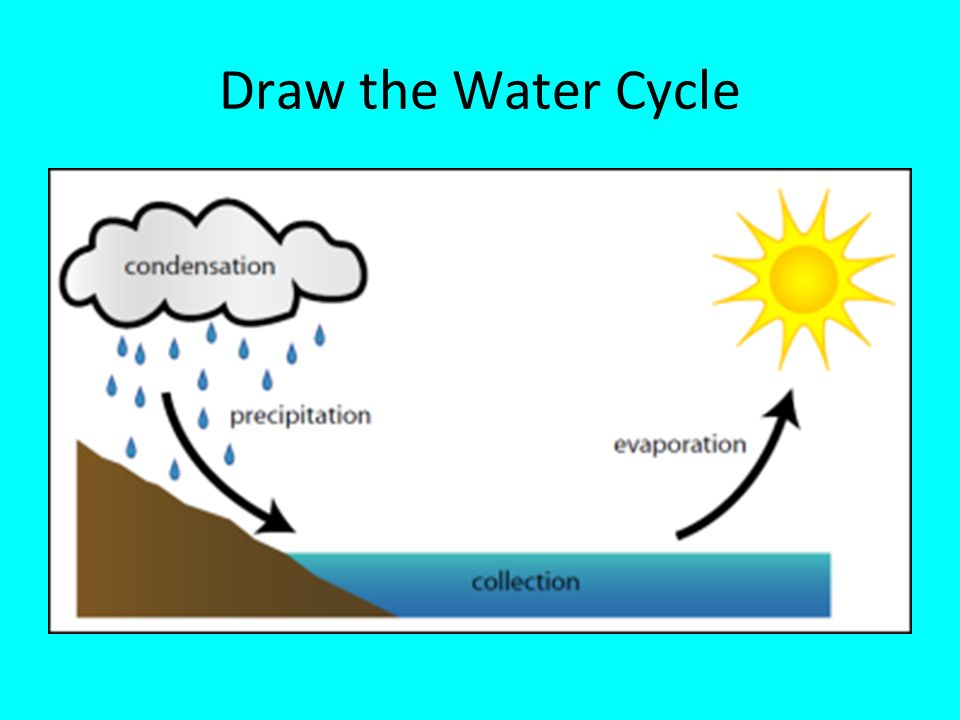 Notes the water cycle and unique properties of water ppt video 10 draw the water cycle ccuart Image collections