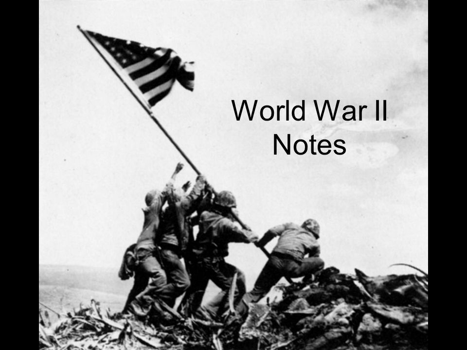 World war 2 history notes