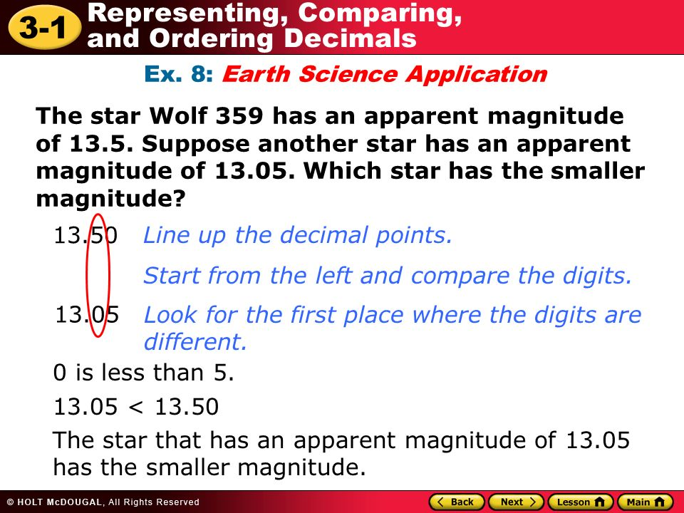 Ex. 1 Write each decimal in standard form, expanded form, and ...