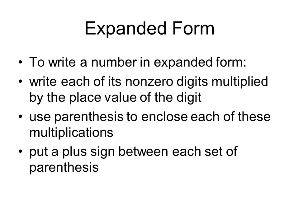 write each number in expanded form