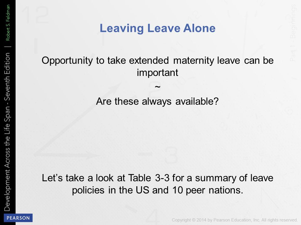 how to ask for extended maternity leave