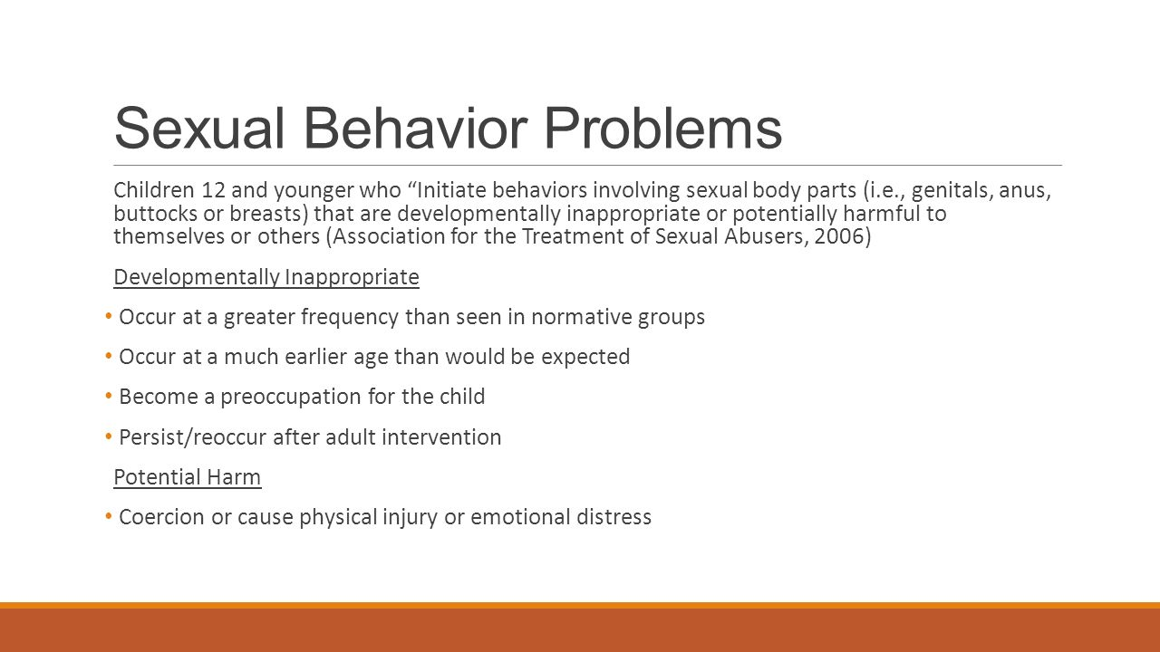 Sexual behavior in toddlers