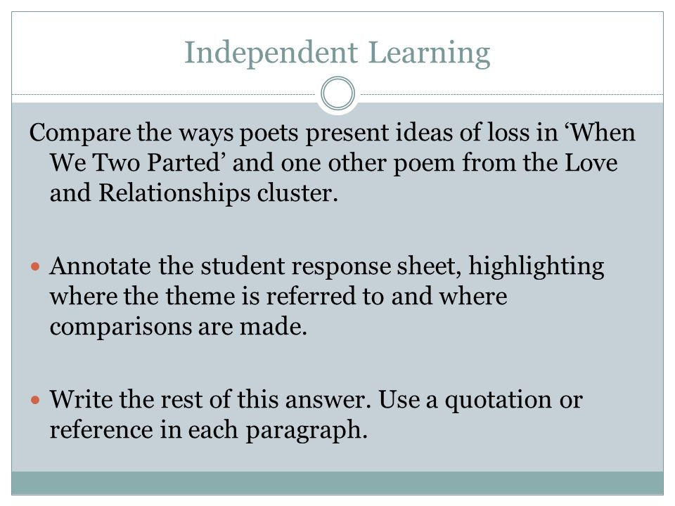 compare the ways poets present relationships What's the difference between poetry and prose  according to some pattern of  recurrence that emphasises relationships between words on the basis of sound.