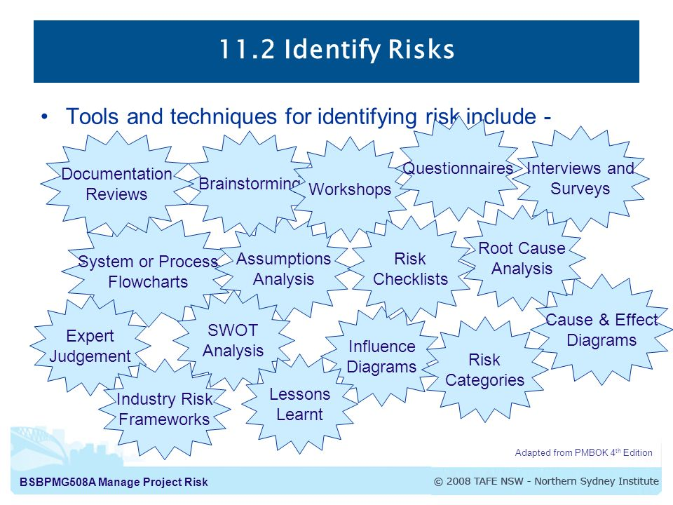 identifying risk The most effective risk identification techniques focus on root cause, which tells us why an event occurs identifying the root cause of a risk provides information about what triggers a loss and where an organization is vulnerable.