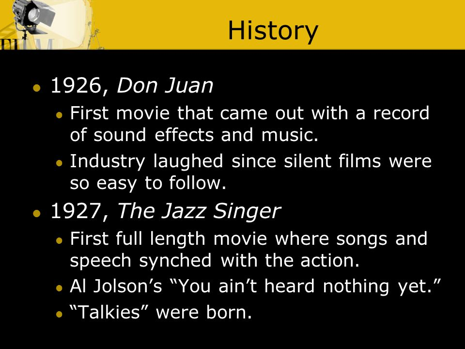 a history of silent films in the entertainment industry An essay about the history of philippine cinema it would be important to know that the film industry not only that but the arrival of the silent films.