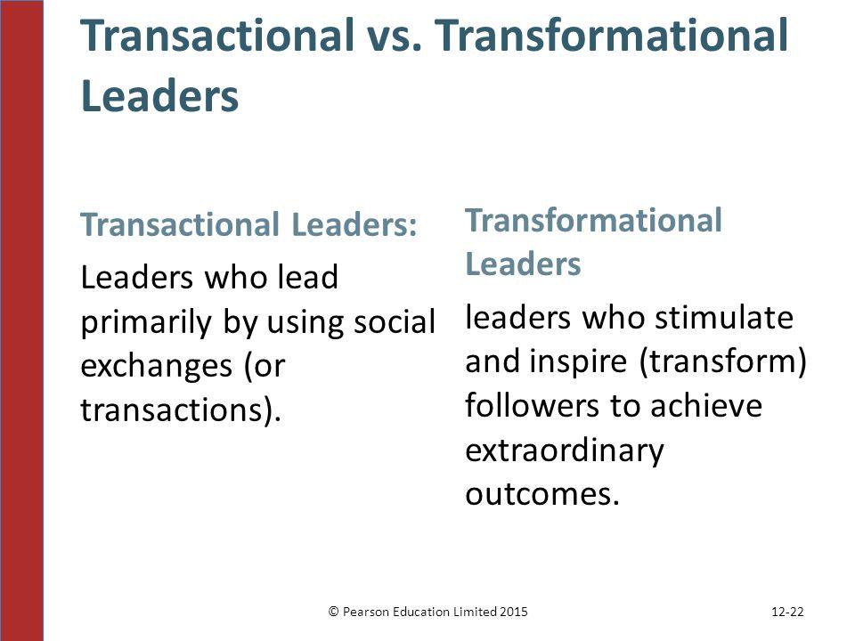 transactional vs transformational leadership in education The move toward transformational leadership educational leadership transformational and transactional.
