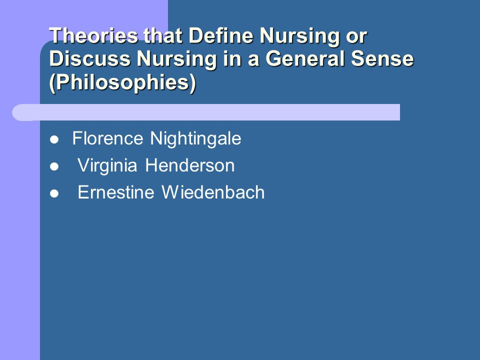 compare and contrast virginia henderson theory to florence nightingale Florence nightingale (environment theory) virginia henderson powerpoint slideshow about 'grand nursing theories based on human needs.