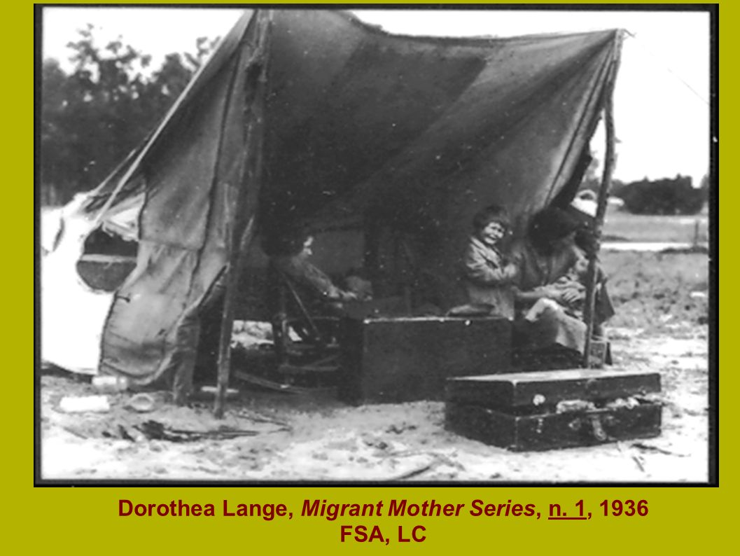 Dorothea Lange, Migrant Mother Series, n. 1, 1936 FSA, LC