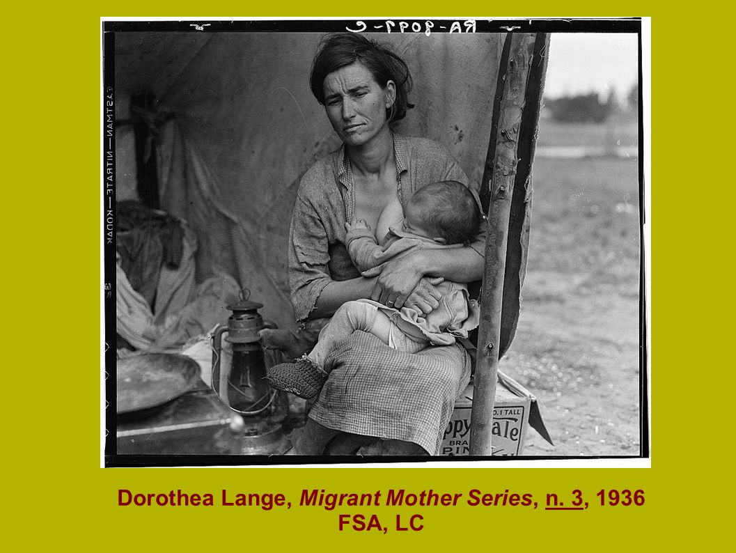 Dorothea Lange, Migrant Mother Series, n. 3, 1936 FSA, LC