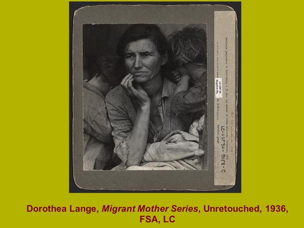 Dorothea Lange, Migrant Mother Series, Unretouched, 1936, FSA, LC