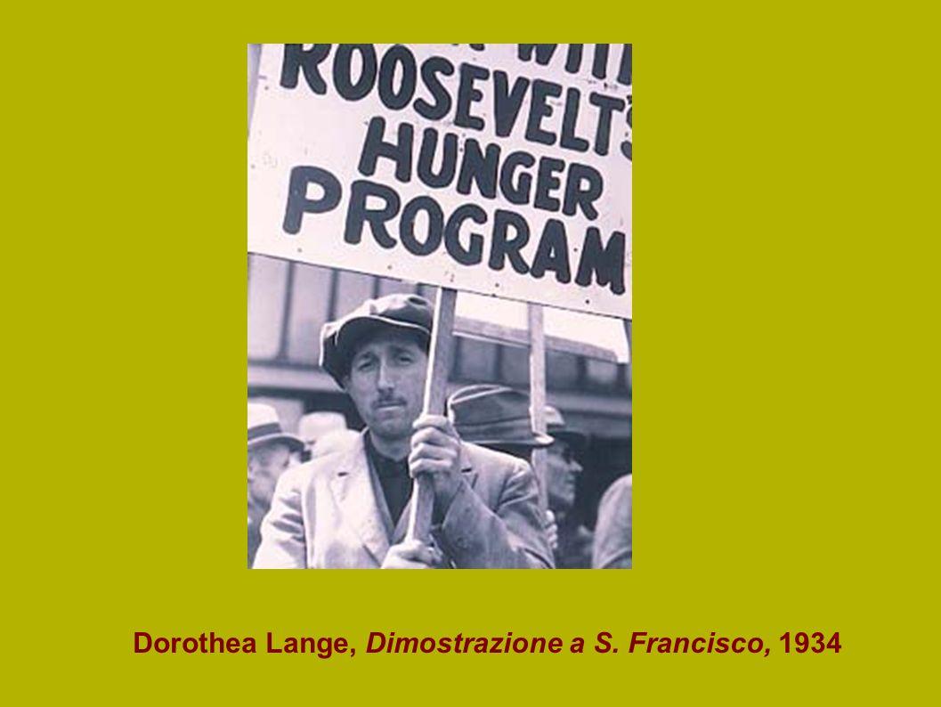 Dorothea Lange, Dimostrazione a S. Francisco, 1934