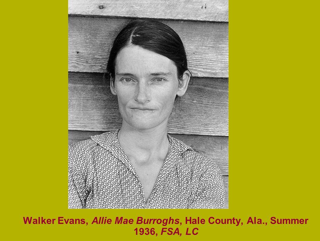 Walker Evans, Allie Mae Burroghs, Hale County, Ala