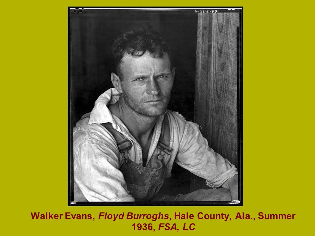 Walker Evans, Floyd Burroghs, Hale County, Ala., Summer 1936, FSA, LC