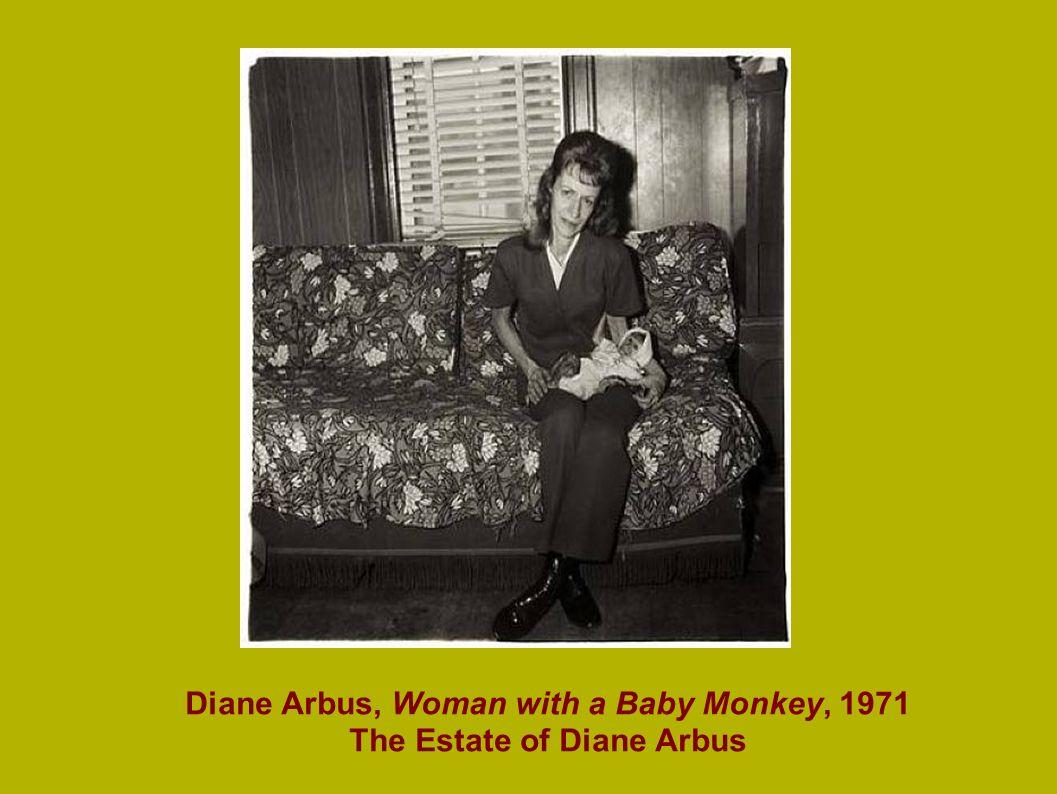 Diane Arbus, Woman with a Baby Monkey, 1971 The Estate of Diane Arbus