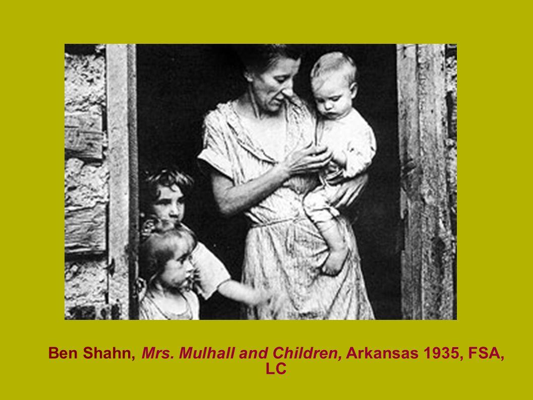 Ben Shahn, Mrs. Mulhall and Children, Arkansas 1935, FSA, LC