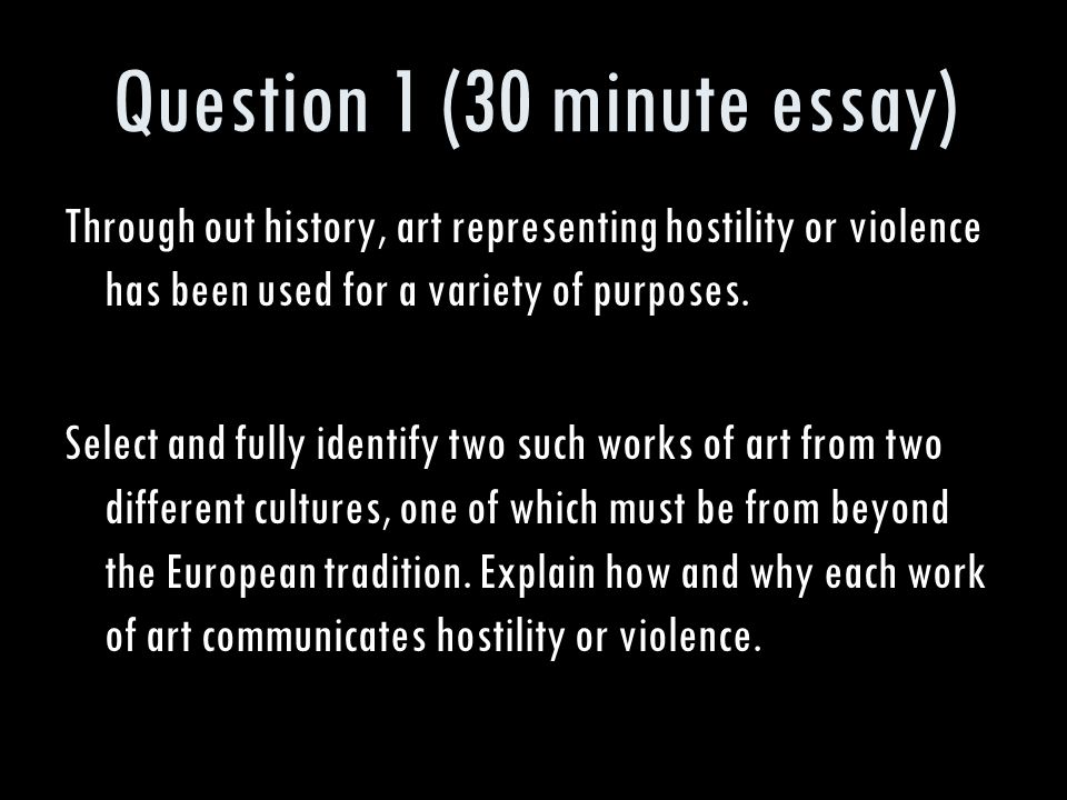 ap art history essay questions The ap art history exam is 3 hours long and has two sections: two 30-minute essay questions ap & your future ap art history can lead to.