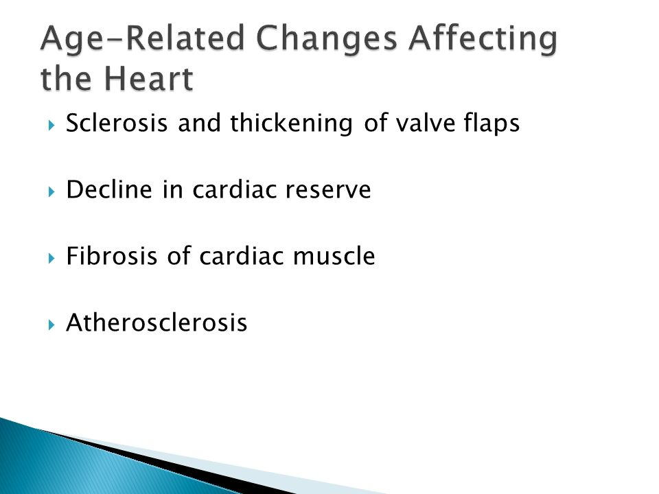 age related changes in the cardiovascular Is that no age-related change is found in resting cardiac output (co), end- diastolic or end-systolic volumes, or ejection fraction in the elderly cardiac tissue  itself.