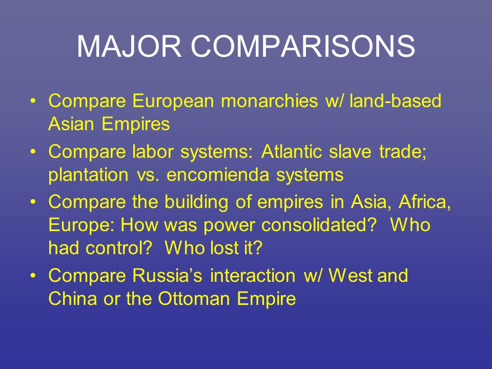 compare and contarts ottoman and russia in western interaction in 1450 to 1750 In the previous era (600-1450 ce), sometimes called the post-classical period, we explored the rise of new civilizations in both hemispheres, th.