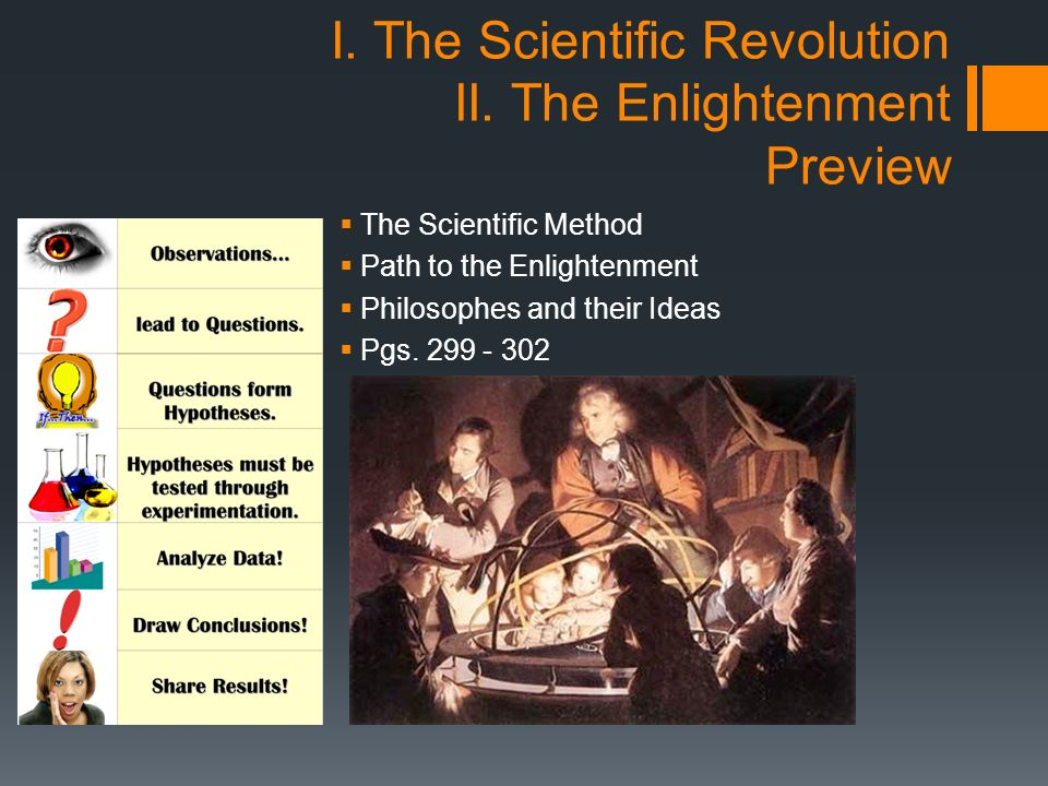 The different personalities that had an impact in the scientific revolution