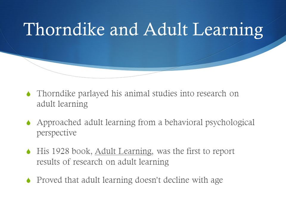 Remarkable, this Adult education research
