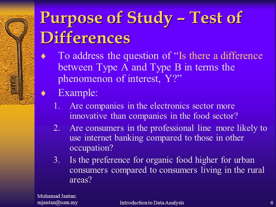 Purpose of study in research paper