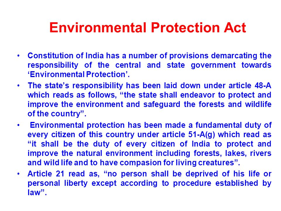 Environment Protection Our Responsibility