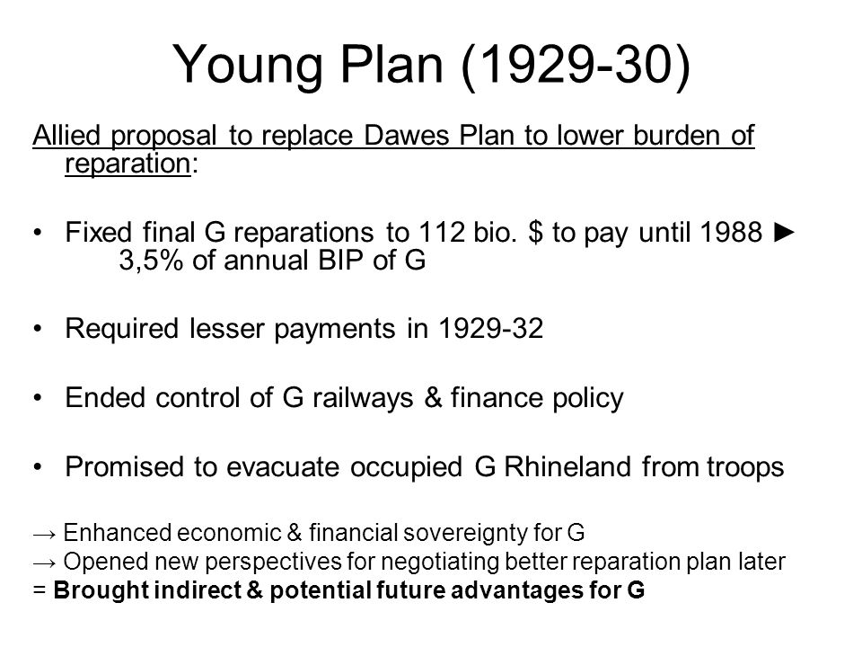 Young plan