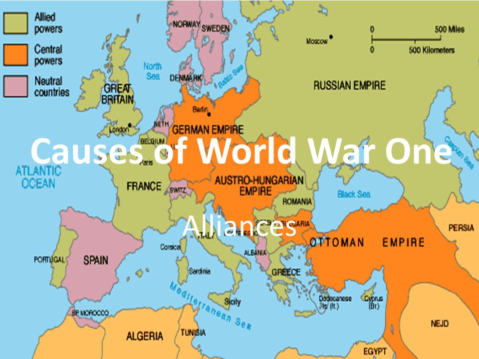 causes of world war one alliances ppt video online download