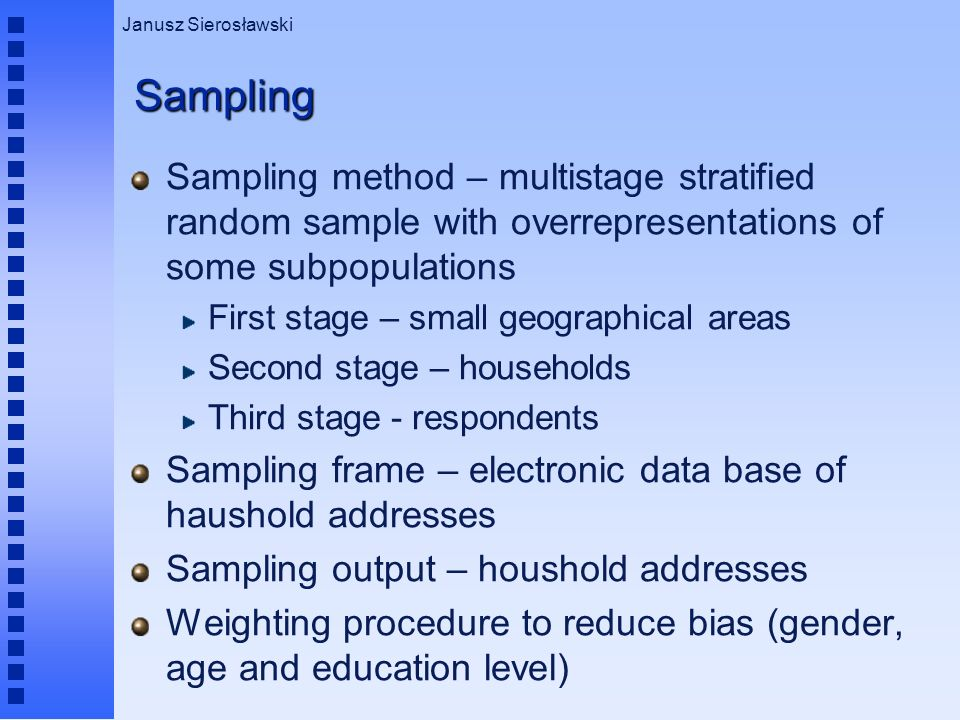 present the survey methodology and sampling frame used In health surveys in developing countries: advantages and current constraints  the utilization of survey methodology developed.