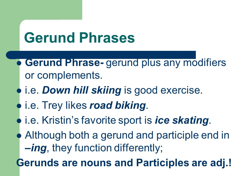 Prepositional Phrases ...