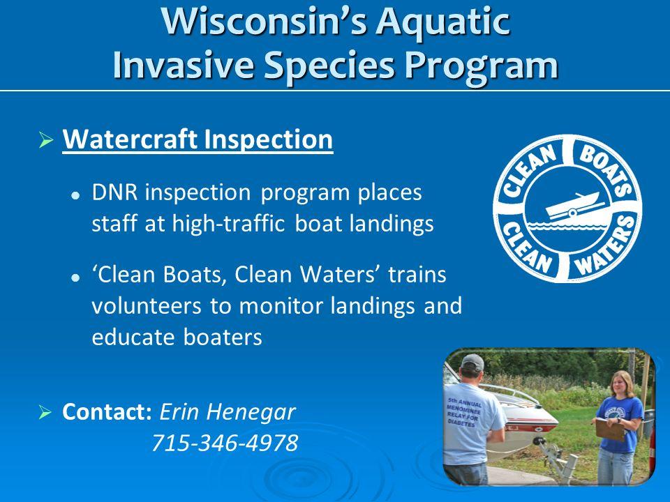 Wisconsin's Aquatic Invasive Species Program
