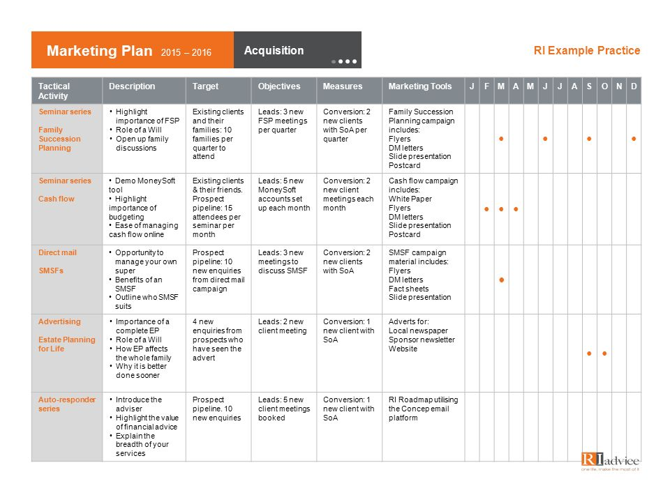 Financial Advisor Marketing Plan Template For