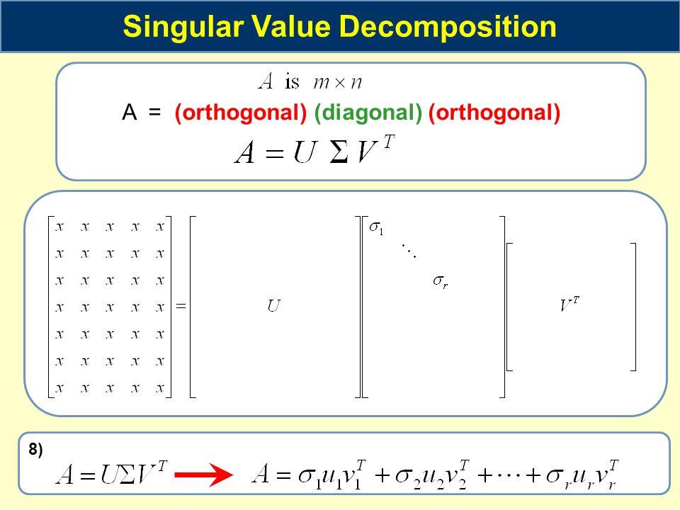Singular Value Decomposition - ppt video online download