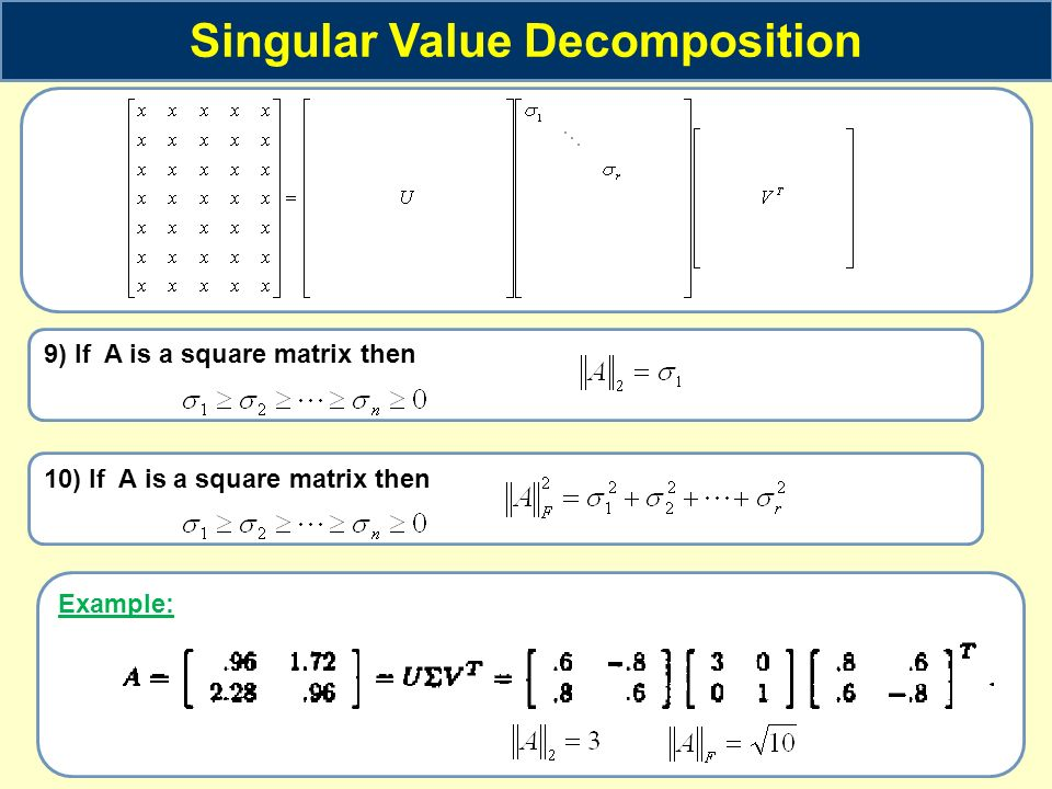 The Singular Value Decomposition And Image Processing West Coast Dsp
